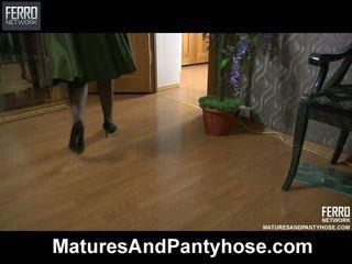 mature, moms and boys, pantyhose