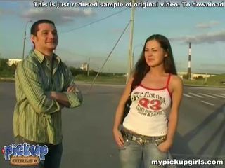 Lonely girl gets acquainted with guy and getting probed Video