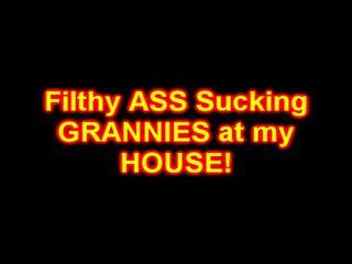 Filthy grannies zuigen anaal cream pies