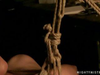 Gorgeous mistress punishing her sex slave