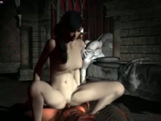Animated Vampire Babe Riding Cock