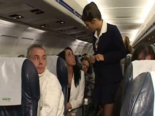कठिन सेक्स साथ बहुत हॉट stewardesses