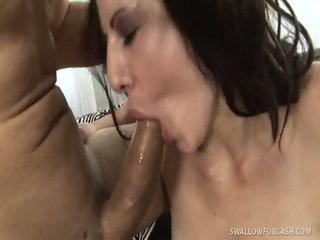 brunette, blow job, hard fuck