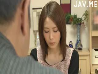 brunett, japansk, cumshot