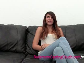 Skinny Cam Girl Ass Fucked on Casting Couch
