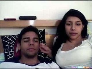 Indiane çift në kamera