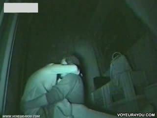 Uit doors donker nacht infrared camera