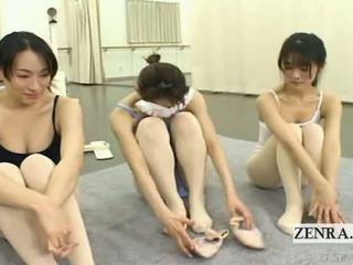 Subtitled enf japonská ballerinas stark nahý stripping