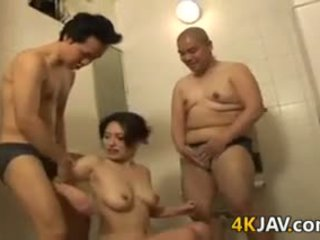 japanese, big boobs, blowjob, lick, fingering, threesome