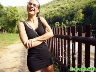 European Girlnextdoor Licks Rooster For Cash