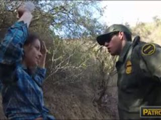 Mexican Bitch Sucks Off And Wrecked By Border Patrol Agent