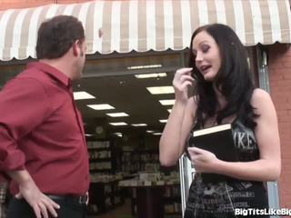Melissa lauren's 大 胸部 得到 性交