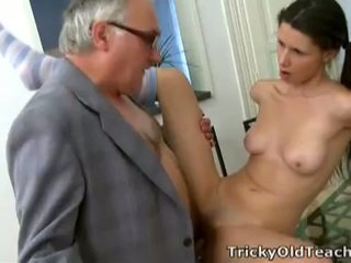 brunette, young, blowjob