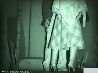 Infrared camera voyeur publiek seks