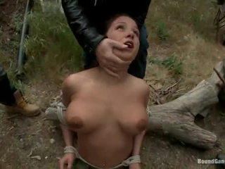 brunete, deepthroat, izdrāzt seksīgu slampa