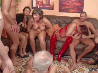 grupu sekss, old + young, gangbang