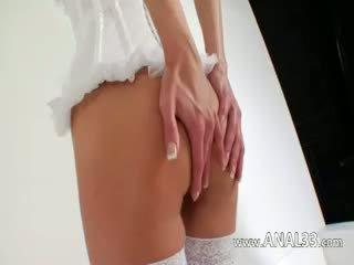 Gracefully Long Dildo In Her Anal