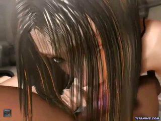 3d ninja meisje loving cockshaft