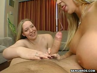 Breasty Mom Sara Jay Shares A Hard Meat Cock With Her Friend