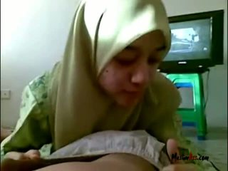 Hijab ティーン 吸い ボール