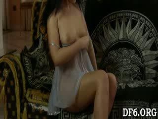 Virgin dreaming a shaft