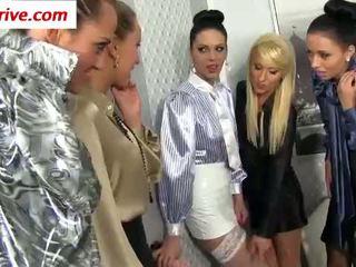 lesbisk, fetisch, nylon