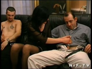 French mature gets double teamed and f...