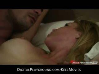 Kayden Kross - Big-booty blonde waitress cheats on her man