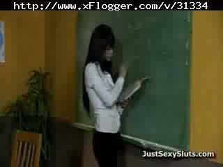 Milf stramt bruneta doggy invatatoare școală coll
