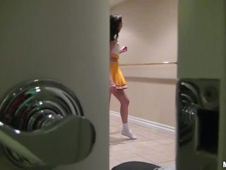 Cheerleader holly michaels boned op tape