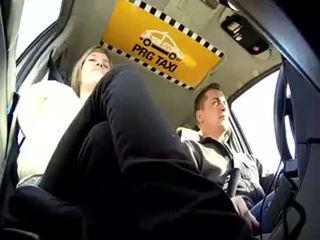 taxi, tchèque, blond