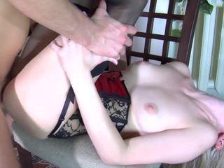 russian, blonde, stockings