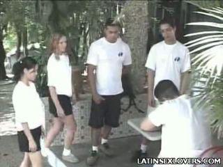 Hot latin kvinne tenåringer hardcore puling