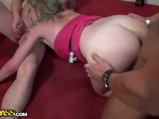college girl, 3some, mmf