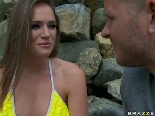 Tori Black fucked doggystyle and take a facial from a stranger! Video