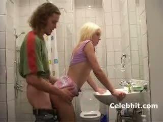 She gets fuck in bathroom blonde teen babe 3