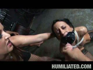 brunette, big dick, torture