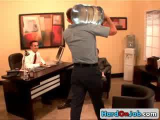 Heiß homo büro drei einige 3 von hardonjob