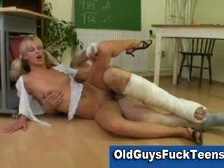 Teacher fucks schoolgirl