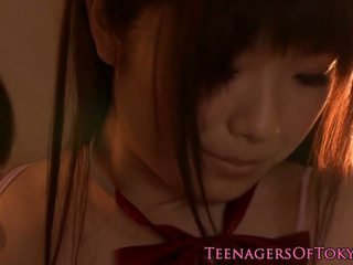 Nippon Les Teen Kissing Schoolgirl Babe, Porn 18