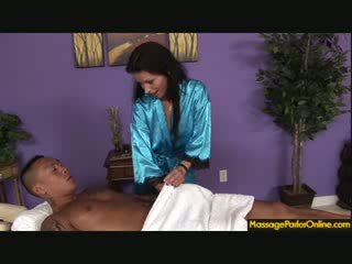 Dianna Doll is giving Barrett a hot titfuck and blowjob until he cums on her face