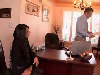 Seksuālā sekretāre banged līdz the boss