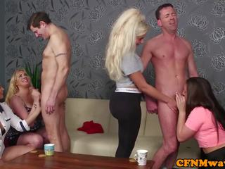 Busty British Femdoms Humiliate Subs in Group: Free Porn 3a