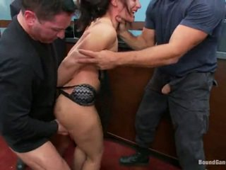 Sheena Ryder Has Throat Fucked By Bank Robbers