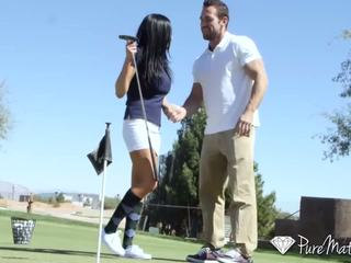 PureMature - Audrey Bitoni gets a hole-in-one