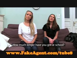 FakeAgent Two hot amateurs in casting