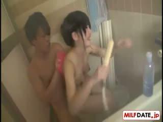 Taking Bath With Big Boobs Japanese Mo...