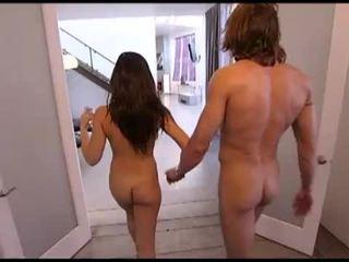 brunette, big dick, nice ass