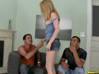 Amber takes two cocks sağ uzakta