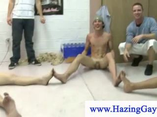 College guys getting their balls abused